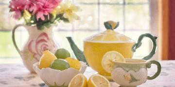 grænt te og sítrus